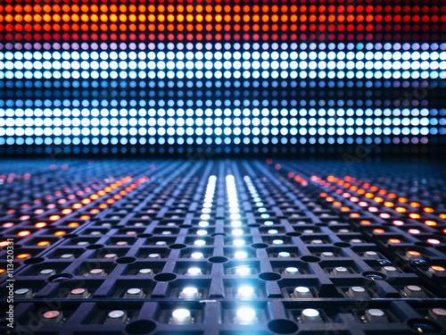 Plakat System cyfrowy LED Light Pattern Streszczenie tło
