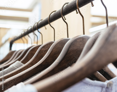 Clothing on Hangers Fashion retail Display Shop Business concept Wall mural
