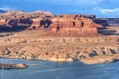 Photo  Hite Marina on Colorado River in Glen Canyon National Recreation  Area