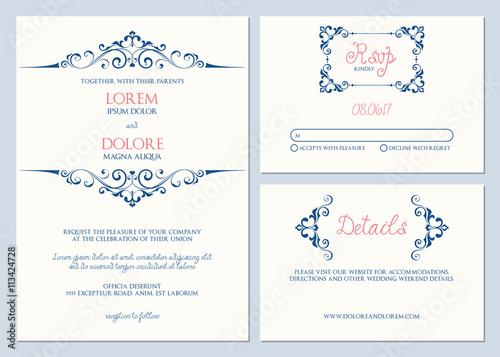 wedding invitation response card