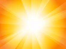 Yellow Orange Sunburst Backgro...