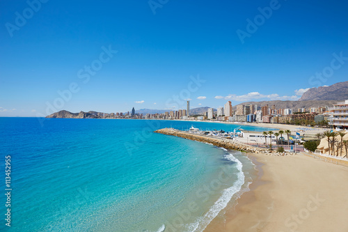 Benidorm Poniente beach in Alicante Spain