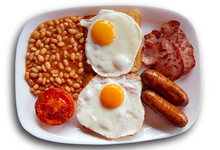 English Breakfast With Two Egg...