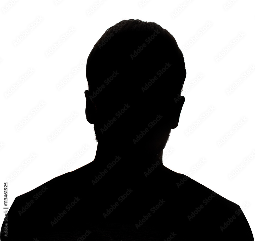 Fototapety, obrazy: Hidden face in the shadow.male person silhouette