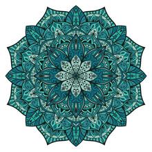 Vector Turquoise Mandala.