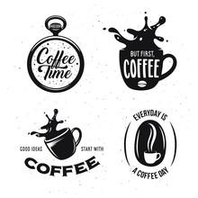 Coffee Related Quotes Set. Cof...