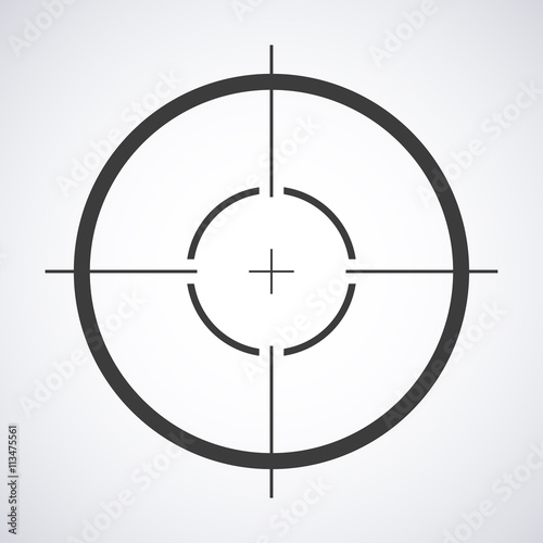 Target Icon Sight Sniper Symbol Isolated On A Gray Background