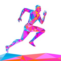 Naklejka The crystal runner vector illustration on a white background