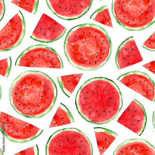 Photo  pattern with watermelon