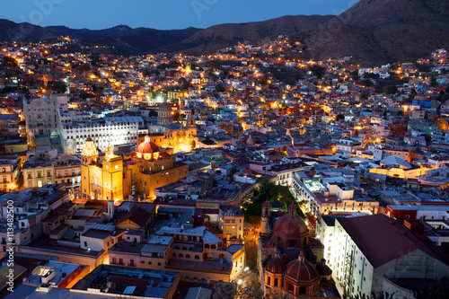 Photo sur Aluminium Mexique Guanajuato nights.