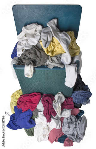 Fotografie, Obraz  Špinavé prádlo v bránit
