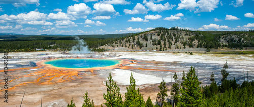 Poster Parc Naturel Grand Prismatic spring, Yellowstone National Park