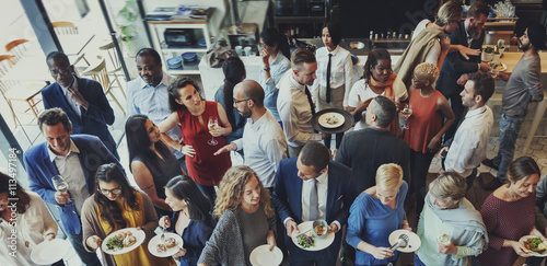 Fotomural Food Festive Restaurant Party Unity Concept