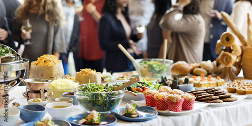 Fotografie, Obraz  Brunch Choice Crowd Dining Food Options Eating Concept