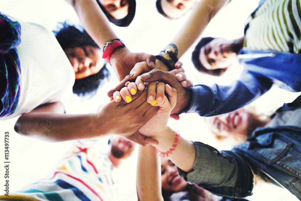 Fototapeta People Friendship Brainstorming Hand Teamwork Concept