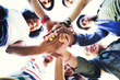 canvas print picture - People Friendship Brainstorming Hand Teamwork Concept