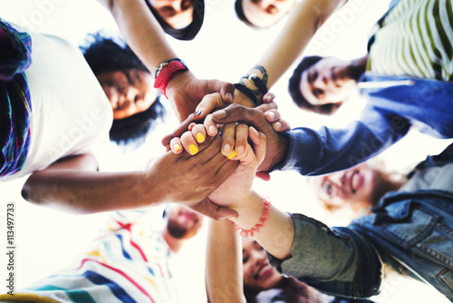 Fototapeta People Friendship Brainstorming Hand Teamwork Concept obraz