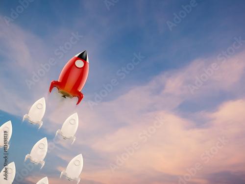 Fényképezés  leadership concept with squadron