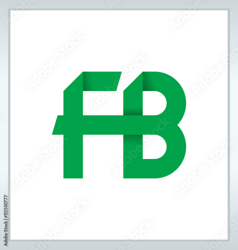 Fb Two Letter Composition For Initial Logo Or Signature Buy This