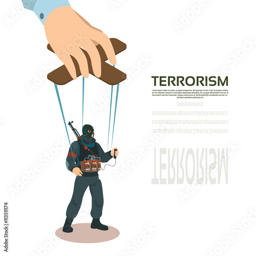 Fotografía  Terrorist Puppet Terrorism Control Concept