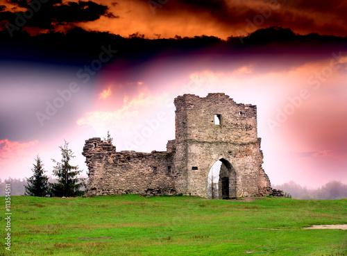 Aluminium Prints Ruins Ruines of old fortress