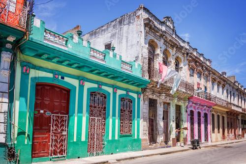 Poster de jardin Havana Colorful buildings in Havana, Cuba