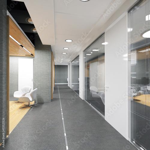Fotografie, Tablou  corridor of modern office building