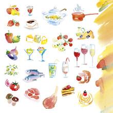 Watercolor Hand Drawn Illustra...
