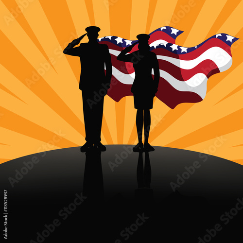 Military super heroes marketing poster background design. EPS 10 vector.