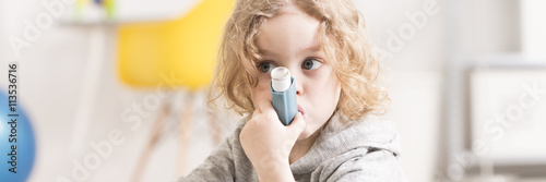 Asthma medicine inhaler Wallpaper Mural