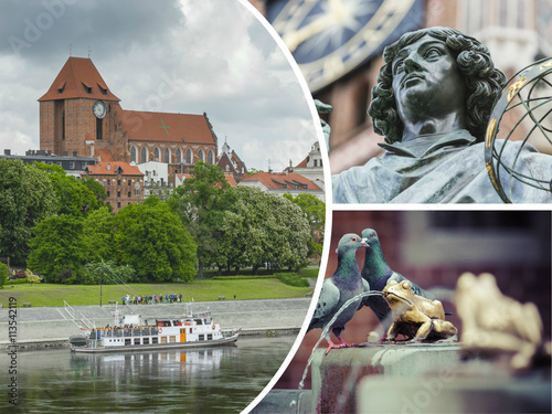 Valokuva  Collage of Torun (Poland) images - travel background (my photos)