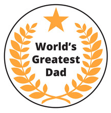Worlds Greatest Dad Label