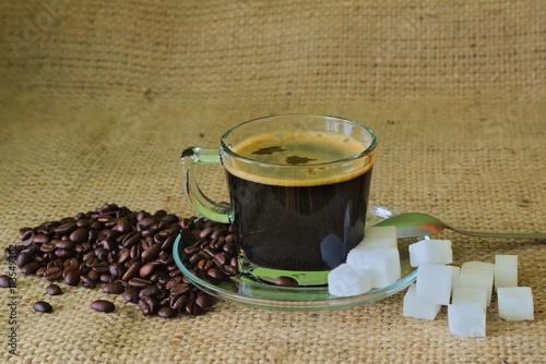 Fotografie, Obraz  Filiżanka kawy.