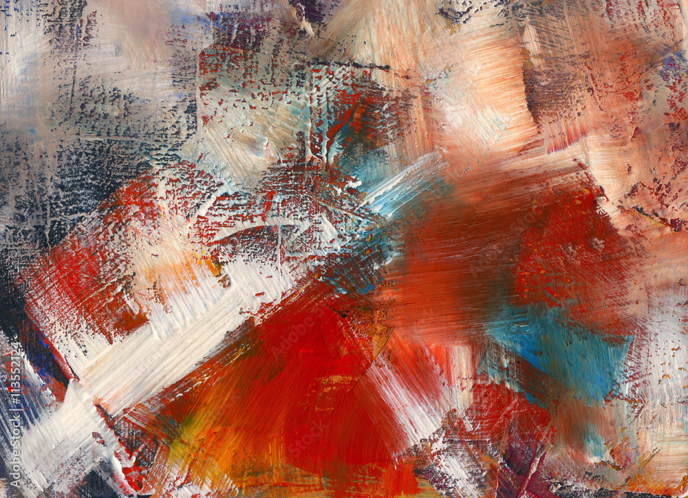 Fototapety, obrazy: paintings, background, textured, abstract, wallpaper, acrylic, v