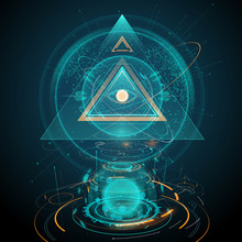 Abstract Futuristic All Seeing Eye Illustration