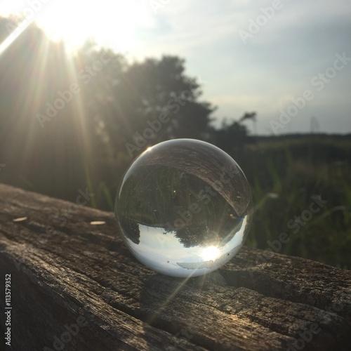 Türaufkleber UFO glassball in nature