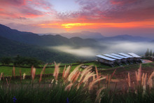 The Beauty Of The Natural Environment During Sunrise And Sunset At Khao Kho District ,Phetchabun Province In Thailand