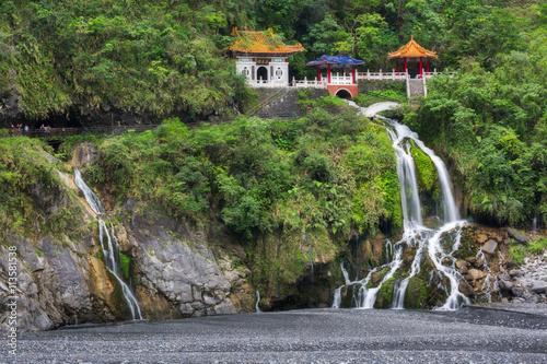 Changchun temple and waterfall at Taroko National Park