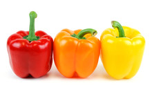 Colorful Bell Peppers Isolated...