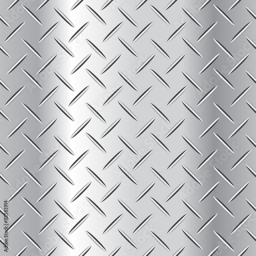 Fotografie, Obraz  Corrugated steel plate vector illustration