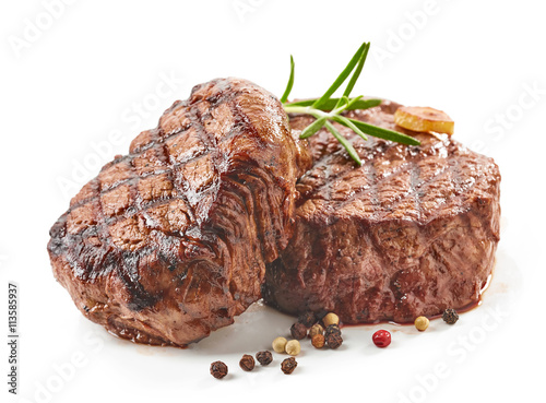 Aluminium Prints Steakhouse grilled beef steaks