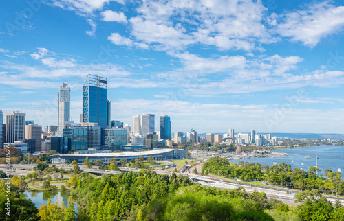 Foto op Canvas Australië Perth view at the noon