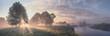 Leinwandbild Motiv Beautiful summer morning landscape