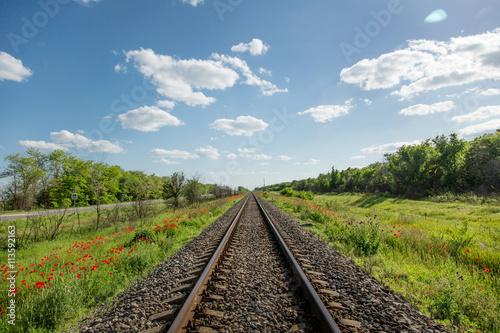 Cadres-photo bureau Voies ferrées Railroad receding into the distance