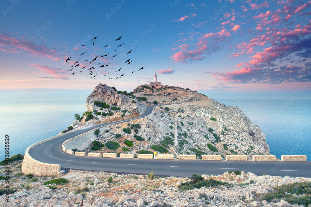 Fototapety, obrazy: Abendstimmung am Cap Formentor, Mallorca
