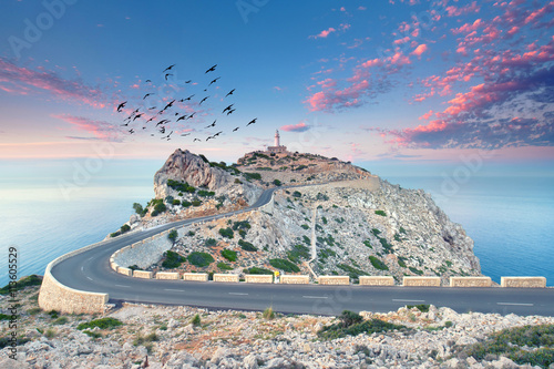 Fotografie, Obraz  Abendstimmung am Cap Formentor, Mallorca