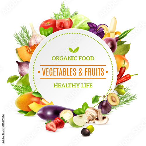 Organic Food Products Healthy: Natural Organic Food Background