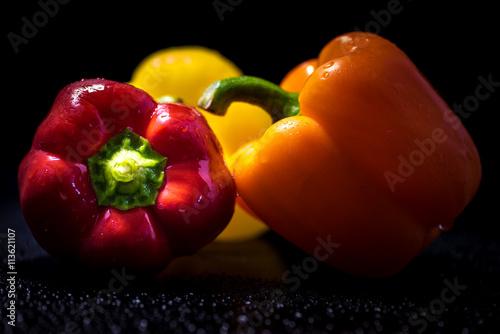Paprika, food, close-up, macro. - 113621107