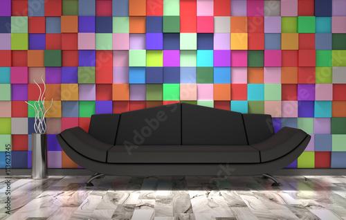 black sofa Poster