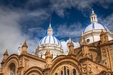 Domes Of Cuenca Cathedral, Ecuador